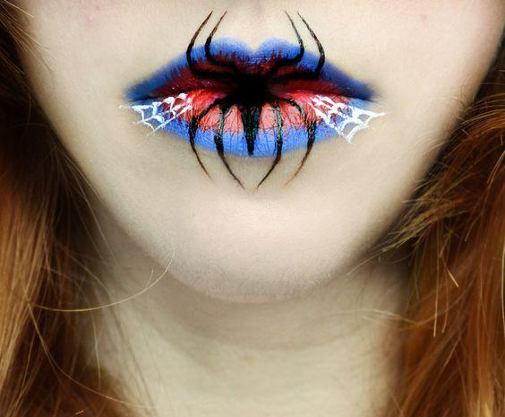 15 Terroríficos diseños para pintar tus labios en Halloween que ...